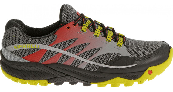 Merrell M's All Out Charge Shoes Molten Lava/Bright Yellow
